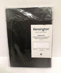 Kensington K97317US KeyFolio Fit for Galaxy Tab 4 Black Keyboard/Cover Case NOS