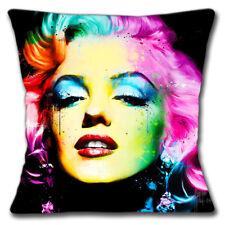 Marilyn Monroe Funda de Cojín 40.6cm 40cm Americano Película Actriz Negro Multi