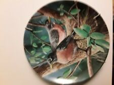 "Edwin M. Knowles Fine China ""The Robin""By Kevin Daniel 8 1/2"" Colector Plate"