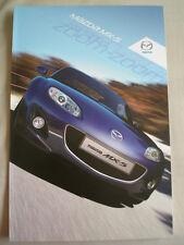 Mazda MX5 range brochure May 2011