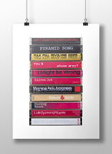 Radiohead Amnesiac Poster: Original Album Cassette Print, Radiohead Fan Art,