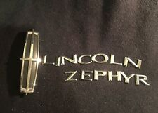 2005 2006 2007 LINCOLN ZEPHYR REAR CHROME EMBLEM LOGO BADGE DECAL SET 05 06 07