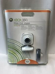 NEW Microsoft Xbox 360 Xbox Live Vision Camera And Headset (Factory Sealed)