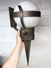 Rare Large Antique 1910s Art & Crafts Exterior Wall Sconce Light Lamp Torch Vtg