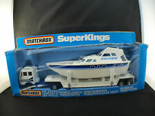 Matchbox Super Kings K-107 Power launch transporter transport yacht neuf MIB