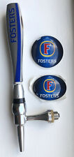 Fosters Branded Chrome Tap, Handle And Badges Set for Man Cave, Bar, Pub