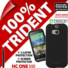 New Trident Aegis Protective Case Rugged Cover + Screen for HTC One M8