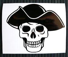 adesivo TESCHIO PIRATA scheletro sticker decal vynil vinile skull pirate
