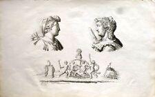 """Lithographie - Philippe Auguste HENNEQUIN - """"Etude de fragments à l'Antique"""""""