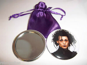 Edward Scissorhands/Johnny Depp Handbag/Lipstick Mirror With FREE Satin Pouch