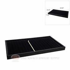 Black Velvet 18 Slot Wooden Bracelet Tray Insert Plastic Stackable Display Tray