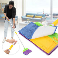Microfibre Double Sided Lazy Flat Mop Washable Home Floor Dust Cleaning Tool