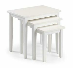 Coffee Nesting Table White Living Room Furniture Set Of 3 Home Dinning Accessory
