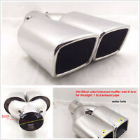 "63mm2.5"" Stainless Steel Inlet Tail Rear Pipe Tip Muffler Exhaust Silencer Cover"