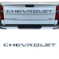 2019-2020 Silverado 1500 Black US Flag CHEVROLET Letters Tailgate Insert Decal