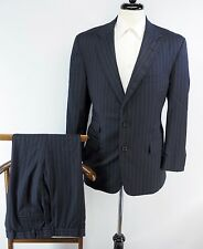 Brooks Brothers STAPLE Navy Blue Pinstripe Super 110s Dual Vent Wool Suit USA