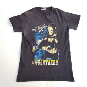 Vintage WWE The Undertaker Faded Wrestling Tshirt Mens Size S Small