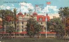 De Land Florida birds eye view College Arms Hotel antique pc Z40352