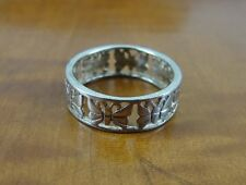 Butterfly around Band Sterling Silver 925 RING Size 7 1/2