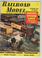Railroad Model Craftsman October 1954