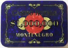 $1,000,000 CASINO ROYALE JAMES BOND POKER PLAQUE