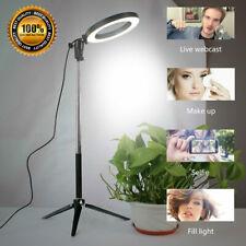LED Studio Ring Light Photo Video Dimmable Lamp Tripod Selfie Camera Phone