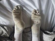 Mens White Sport Sox Chav Scally Socks Size 8 possible gay interest
