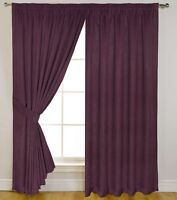 Fully Lined Pencil Pleat-Tape Top Curtains 15 Sizes In 6 Colours (Waffle Effect)