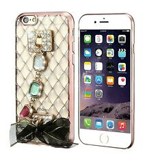 Iphone 7 Plus Bling Jewelled, Patterned, Transparent Strap Case Cover for Apple