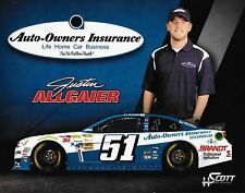 "JUSTIN ALLGAIER ""AUTO-OWNERS INSURANCE POLO SHIRT #51 NASCAR SPRINT CUP POSTCARD"