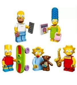 "LEGO Minifigures SIMPSONS Series 1 S1 ""Simpsons Family"" Set of 5 #71005"