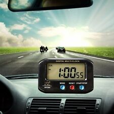LCD Digital Time & Date Alarm Clock Stop Snooze With Night Light Car Decor