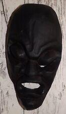 Balinesische Maske Albesia-Holz 3D schwarz abstrakt Wanddekoration 27 x 14 cm