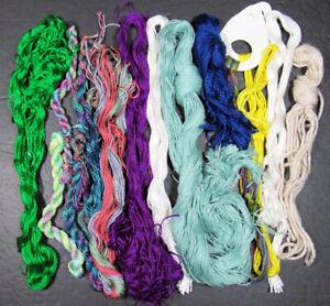 14x Needlepoint/Embroidery THREAD unbranded silks & silk/wool blends-ZZ98