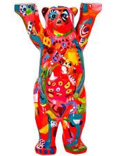 BUDDY BEAR BERLIN Little Rainbow NEU/OVP 22cm +Glasplatte Bunter Deko Design Bär