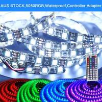 RGB LED Strip Light 12V Multi-color Waterproof  5050 1-30m IR Controller Adapter