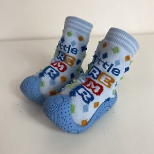 Baby Boys Blue Orange Little Dreamer Pre Walker Sock Shoes UK 3/19 9-12 Months