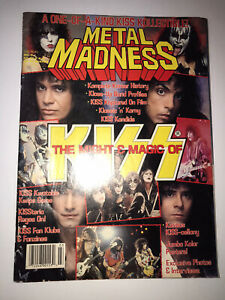 """KISS VINTAGE METAL MADNESS ROCK MAGAZINE.""""THE MIGHT THE MAGIC""""WITH POSTER NICE."""