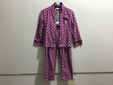 Juicy Couture youth girls size 4t pink and navy blue pajama set