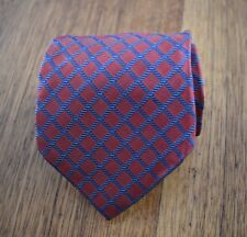Façonnable Silk tie | Woven plaid | Geometric necktie (Hand-made in France)