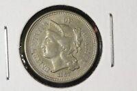 1867 3c Nickel,  Choice XF