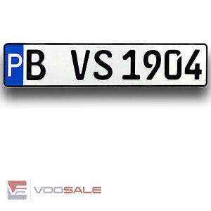 1 Parkplatzschild | Parkpklatzkennzeichen reflektierend ihrem Wunschtext