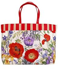 Estee Lauder large Floral Design canvas Tote Bag Beach Bag Shopper purse flowers