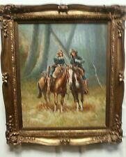 Solenson Western Horses Oil Painting Cheyenne Scouts Patrolling Big Timber NC OK