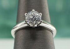 1 CT SI1/F Round Cut Diamond Solitaire Engagement Ring Solid 14K White Gold 5.5