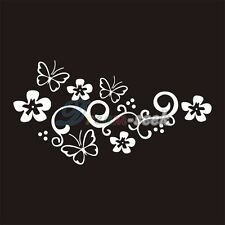 Beautiful Flowers Butterfly Vinyl Removable Car Window Sticker Decal