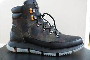 Cole Haan ZERØGRAND Hiker Boots Black Olive Camo size Men's 10.5 NEW
