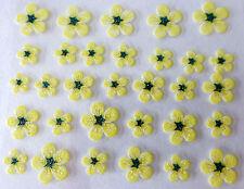 Accessoire ongles : nail art - Stickers autocollants - fleurs jaunes