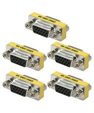 5x DB15 HD VGA/SVGA Female to Female 15pin D-SUB Gender Changer Coupler DB15HD