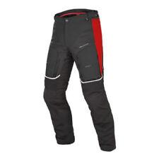Pantalones negros de malla de rodilla para motoristas